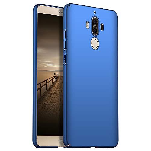 for Huawei Mate 9 Hülle, ZUERCONG [Matte Serie] Ultra Dünn Slim Cover Case Anti-Fingerabdrücke Shockproof Handytasche Hartplastik Schutzhülle für Huawei Mate 9, Glattes Blau