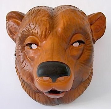 Tiermaske Bär Maske (Maske Braunbär)