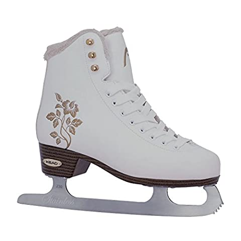 Head Opal Women's Figure Ice Skate–White, W3FG15, Womens, Schlittschuh Figure Opal, white, 40
