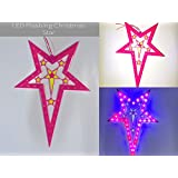 M-Tech LED Flashing Christmas Star Multicolour Flashing Single Layer Star For Christmas Tree Decoration (Set Of 1pc Star)