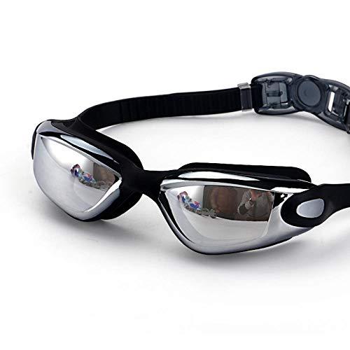 Clear vision, waterproof, anti-fog, myopia, swimming goggles, casual fashion, three anti-flat swimming goggles - blue -