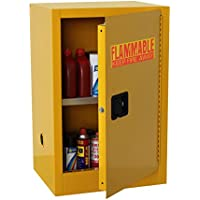 edsal sc16F-p armario de seguridad para líquidos inflamables, sola puerta y Manual estrecha, 16L, 1118mm Altura, 584mm ancho, 457mm de profundidad, acero, color amarillo
