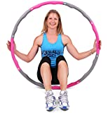 ResultSport® Level 1 Wave Weighted 1.2kgs (2.65lbs) Fitness Exercise Hula Hoop - Pink/Grey
