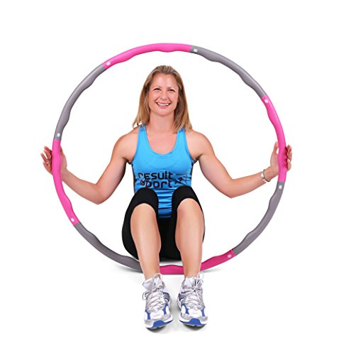 resultsportr-level-1-wave-weighted-12kgs-265lbs-fitness-exercise-hula-hoop-pink-grey
