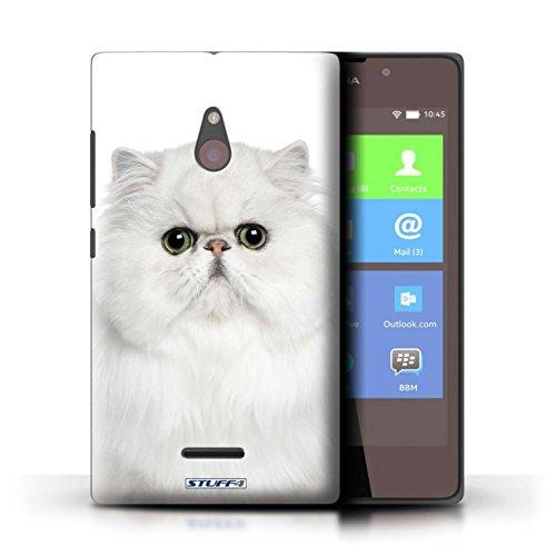 Kobalt® Imprimé Etui / Coque pour Nokia XL / Sibérien conception / Série Espèces de chats Persan Blanc