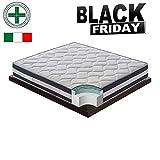 Black Friday - Materasso Matrimoniale Memory Gel da 6,5cm rinfrescante a 9 Zone...