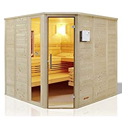 'Infraw 209x 209cm Solid Wood Sauna Urban Complete 391034