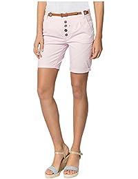 Sublevel Damen Chino-Shorts mit Flecht-Gürtel I Leichte Bermuda I Kurze Hose  in 1728089fcd