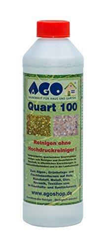 AGO ® Quart 100 Hochkonzentrat Grünbelagentferner 500ml Konzentrat. Gegen Algen, Flechten und sonstige Grünbeläge. Chlor- und Säurefrei
