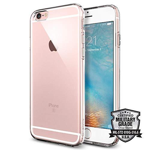 iPhone 6S Hülle, Spigen® [Liquid Air] Soft Capsule [Crystal Clear] Luftpolster-Technologie Handyhülle - Soft Flex Premium-TPU Schutzhülle für iPhone 6/6S Case, iPhone 6/6S Cover - Crystal Clear (SGP11753)