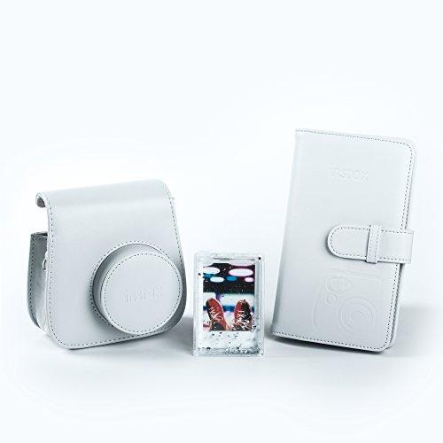 Fujifilm 70100138065 Kit Accessori per Fotocamera Instax Mini 9 Smokey Bianco