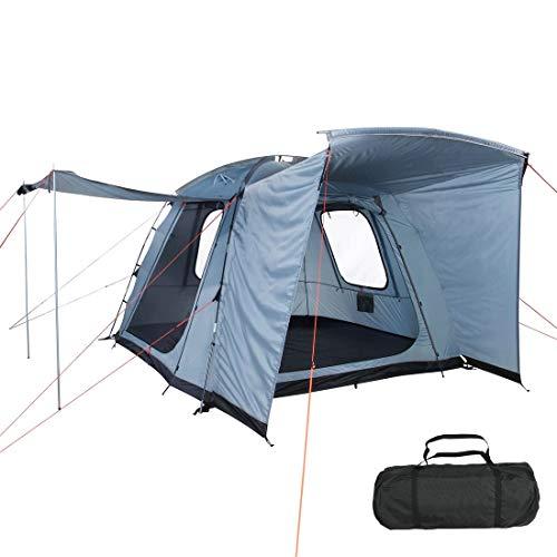 10T Outdoor Equipment Unisex- Erwachsene Zelt Armidale Arona Vorzelt Kuppelzelt wasserdicht 5000mm Campingzelt Bus PKW Van Wohnmobil, Blau, 300x280x210 cm