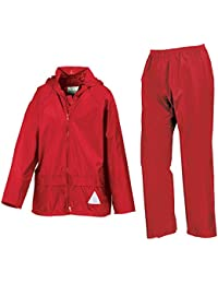 Result Childrens Kids Boys and Girls Waterproof Jacket and Trousers Rain Suit