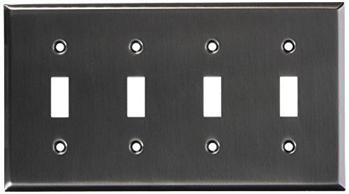 Baldwin Wall Plate (Baldwin 4772151Quadruple abgeschrägte Kante Schalter, antik nickel)