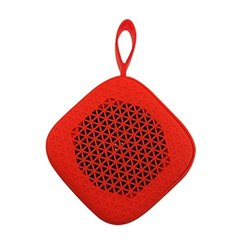 qiaynCreative Shape Portable Haut-Parleur sans Fil Bluetooth Extérieur Mini Haut-Parleur Petite Taille Bon Touch Pocket Haut-Parleur Soutien Appels Vocaux-en Haut-Parleur Portable Rouge