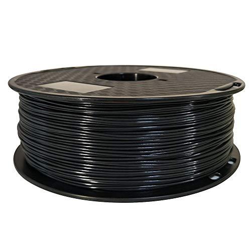 OMAS ASA Filament 1.75mm Negro 3D Impresora Filamento 1 kg Carrete 2.2 LBS resistente a los rayos UV