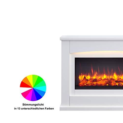 Richen Elektrokamin EF160B-MT160B Elektrischer Kamin (2000W, LED-Beleuchtung, 3-D Flammeneffekt, Fernbedienung) Weiß - 6