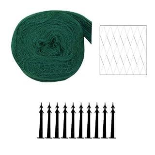 Xclou Garden Teichabdecknetz, Vogelschutznetz aus Polyethylen, Grün/Schwarz, 500 x 600 x 9 cm