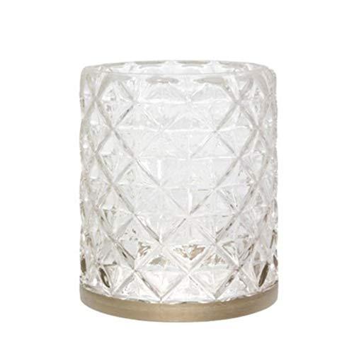 YANKEE CANDLE Langham Kerzenhalter, Glas, transparent, one Size