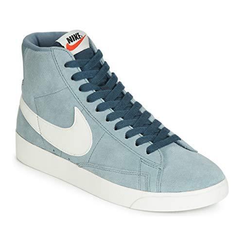 Nike Damen W Blazer Mid Vintage Suede Basketballschuhe, Mehrfarbig (Aviator Grey/Sail/Monsoon Blue 002), 40 EU -