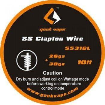 Geekvape Wickeldraht Clapton SS316L 26GA/30GA 3m von GeekVape