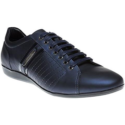 Versace Collection Formal Hombre Zapatillas Azul