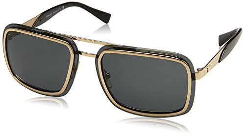 Versace Herren 0VE2183 125287 63 Sonnenbrille, (Pale Gold/Grey)