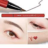 Wasserdichte Flüssigkeit Eyeliner Eyeliner Schönheit Make-up Anfänger Schweiß nicht schwindlig Fang Wein rot braun Liquid Eyeliner Pen