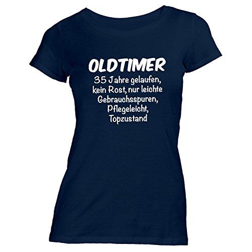 Damen T-Shirt - Oldtimer Geburtstag 35 Jahre - Birthday 35 Years Fun Geschenkidee Navy