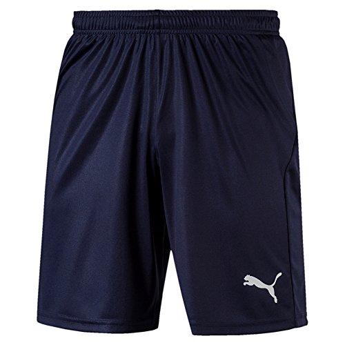 PUMA Herren Liga Shorts Core with Brief Hose, Peacoat White, M