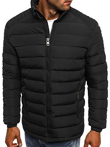 OZONEE Herren Winterjacke Steppjacke Sweatjacke Übergangsjacke Jacke Gesteppt J.STYLE 518 Schwarz_JS-518_KU