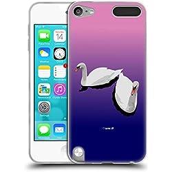 Head Case Designs Officiel Zelko Radic Bfvrp Amour De Cygne Oiseaux Coque en Gel Doux Compatible avec Apple iPod Touch 5G 5th Gen