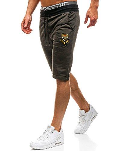 BOLF Herren Shorts Bermudas Camouflage Sport Style RED FIREBALL HL8565 Khaki L [6F6] (Khaki-hosen Sport)