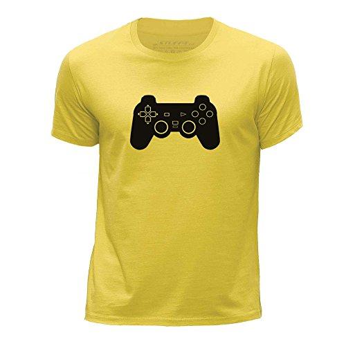 Preisvergleich Produktbild STUFF4 Jungen/Alter 12-14 (152-164cm)/Gelb/Rundhals T-Shirt/PS1/PS2/PS3 Playstation Controller