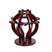 Hong xia shop European Minimalist red wine rack Retro High-end Creative Wooden upside down European grape wine rack creative goblet rack home adornment Display Stand