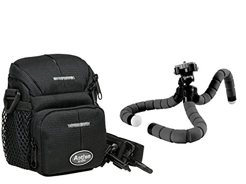 Foto Kamera Tasche ACTION BLACK ONE im Set mit Reise Stativ Rollei Monkey