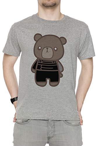 Inverno fischio Orso 1 - Orso Uomo Girocollo T-Shirt Grigio Maniche Corte  Dimensioni S 113cee20e13b