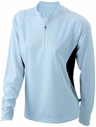 James & Nicholson Damen T-Shirt Running Langarm Shirt Small white/black