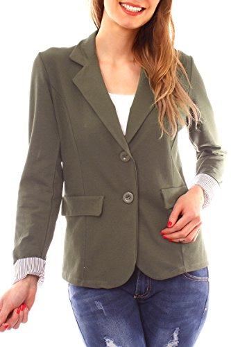 Easy Young Fashion - Veste de tailleur - Femme - vert - S-36