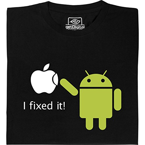 Android Fixed it - Geek Shirt für Computerfreaks aus fair gehandelter Bio-Baumwolle, Größe M (T-shirt Android)