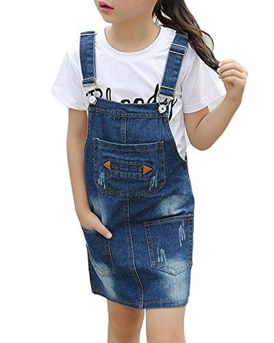 Gladiolusa denim abiti da principessa per bambini denim vestito jeans overall salopette come immagine 130