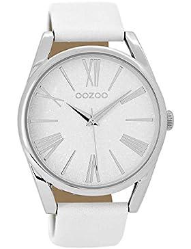 Oozoo Damenuhr mit Lederband Weiß C8910