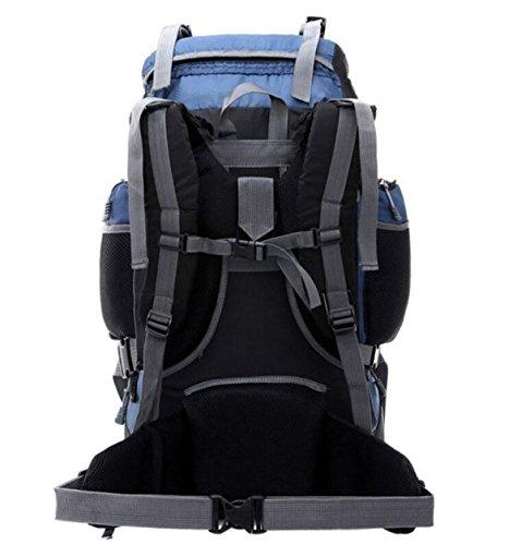 Fabelhaft Einzigartige Mutter Package Design Bergsteigen Tasche 55L Große Kapazitäts-Camping Wandern Bag DarkBlue
