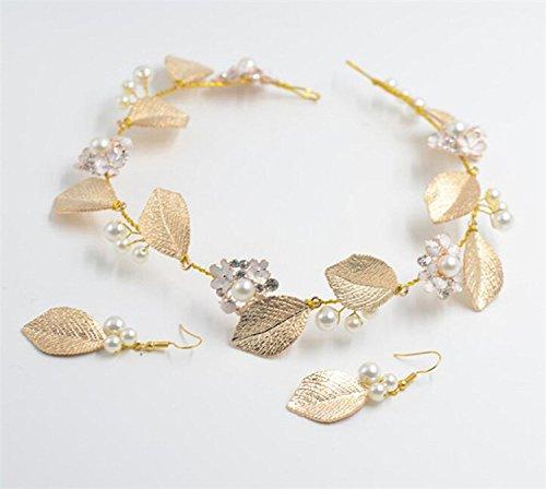 Tiara Nupcial Diadema de Pelo Diamantes de Imitación Pendientes