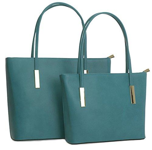 Big Handbag Shop ,  Damen Tasche Dunkles Türkis