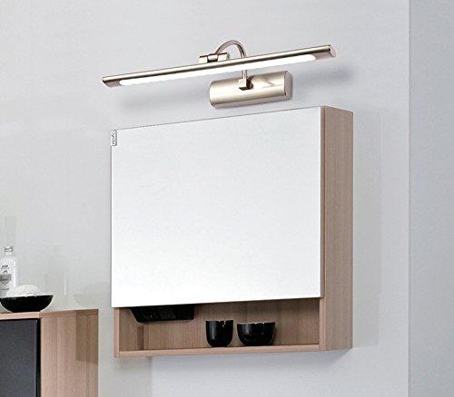 ZMH LED Bilderleuchte Spiegelleuchte Schranklampe Wandleuchte aus Rostfreir Stahl und Acry Badezimmerlampe Badlampe Spiegel Wand Schminklicht Schminke Leuchte (Maße: 820*140mm Kaltweiß) Iphone 5 Weiß Oben Und Unten