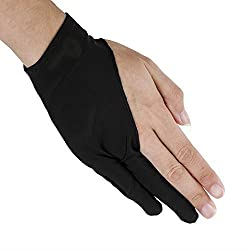 LumsBurry Graphic Drawing Tablet 2-Fingers Glove Artist Gloves for Light Box