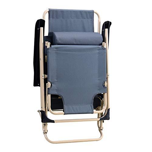 DEED Lettini sedia da mare sdraio da spiaggia lettini prendisole metallo sedia sdraio pieghevole ufficio letto pieghevole allaperto giardino Siesta