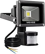 MEIKEE sensor de movimiento de la pared de Seguridad Pure White luz de impermeable de la mpara de 10W LED