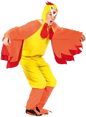infactory Fasnachtskostüme: Faschings-Kostüm Funny Chicken, für Erwachsene bis 185 cm (Halloween- & Faschings-Kostüme) (Bein Huhn Kostüm)